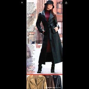 Metrostyle Long Genuine Leather Jacket
